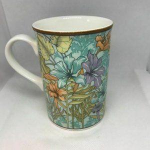 Vintage Royal Canterbury 4 Mugs Iris Leaves